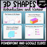 3D Shapes   Introduction and Review (Powerpoint & Google Slides)