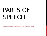 POWERPOINT NOTES: SUBJECT VERB AGREEMENT