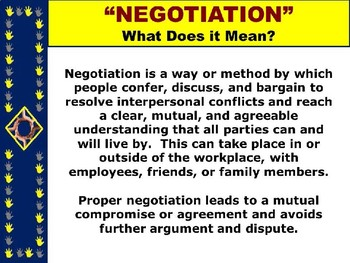 "NEGOTIATION PPT -  ""The Power of Negotiation"" 8 TIPS + 5 Student Activities"