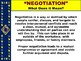 """NEGOTIATION PPT -  """"The Power of Negotiation"""" 8 TIPS + 5 S"""