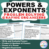 POWERS & EXPONENTS Word Problems with Graphic Organizer