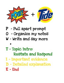 POW+TIDE Mnemonic Poster from SRSD