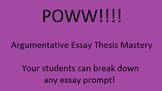 POWW Argumentative Essay Thesis Mastery Lesson