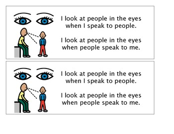 PPCD Autism Social Skills Social Story Making Eye Contact