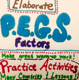 PEGS Activity Bundle by Region (Political,Economic,Geographic,Social)