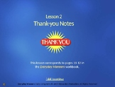 PPEM2 Thank-You Notes PowerPoint from Everyday Manners Daily Living Skills