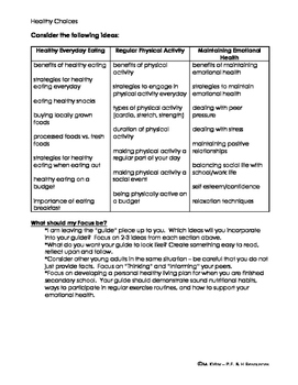 PPL PE/Health A Guide to Healthy Living on Your Own