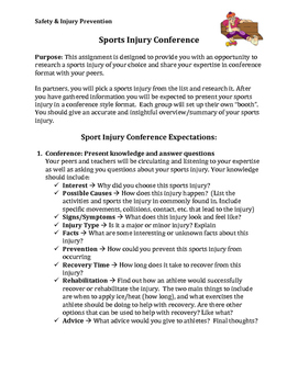 PPL PE/Health  Sport Injury Conference Project