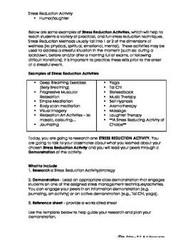 PPL PE/Health Stress Reduction Technique Presentation Project