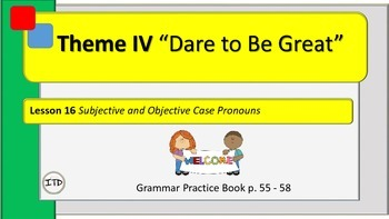 "PPT 5th Gr Grammar Lesson 16 ""Subjective and Objective Case Pronouns"""