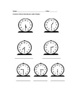 Exercicio As Horas