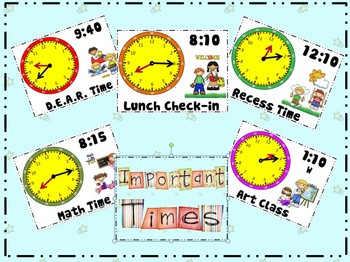 PPT Editable Daily Clock Schedule