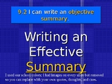 PPT - How to Write an Objective Summary with Assessment