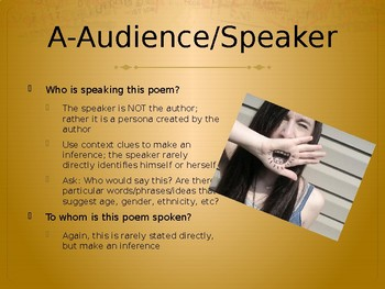 PPT Introduction to Poetry Analysis using pop song lyrics