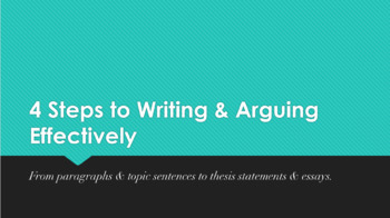 PPT Lesson & Practice: Thesis Statements