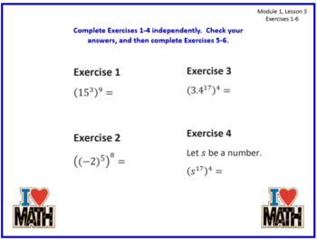 PPT Lessons for Eureka Math (Engage NY) 8th Grade Bundle ALL MODULES