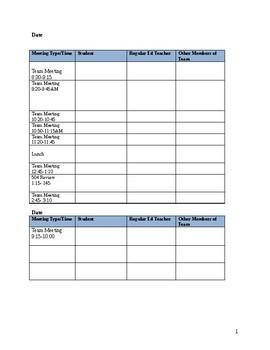 PPT Meeting Schedule