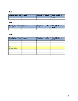 Speech Therapy-Special Education-PPT Meeting Schedule