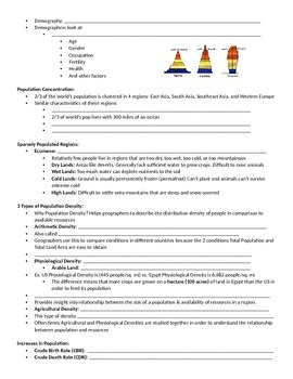 PPT Notes- Intro to Population
