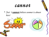 PPT Slideshow with Compound Words