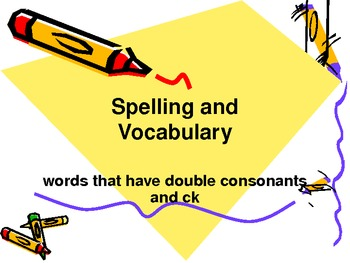ppt slideshow with double consonants and ck by rebecca a tpt
