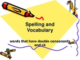"""PPT Slideshow with Double Consonants and """"ck"""""""