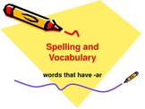 """PPT Slideshow with """"ar"""" Words"""