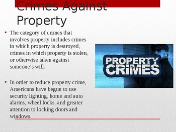 PPT Street Law:  A Course in Practical Law: Chapt 10 Crimes Against Property
