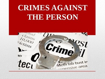 PPT Street Law:  A Course in Practical Law:  Chapter 9 Crimes Against the Person