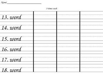 PPT Template - Three Times Each Practice