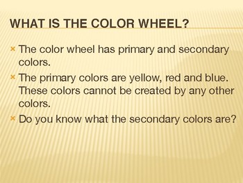 PPT- The Color Wheel