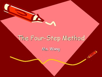 PPT- The Four-Step Method Problem Solving
