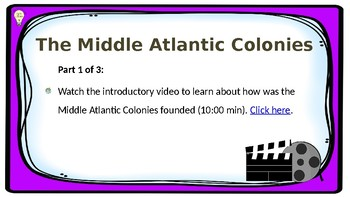 PPT  US History Chapter 6 The Middle Atlantic Colonies Presentation