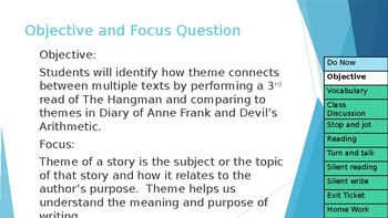 """PPT and Lesson Plan for """"The Hangman"""" Associated with Anne Frank"""