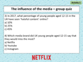 PPT and worksheet: How does media affect young people and society?