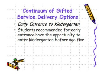 PPT for District Gifted/Enrichment Services fully editable