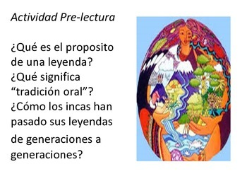 PPT for Inca creation legend