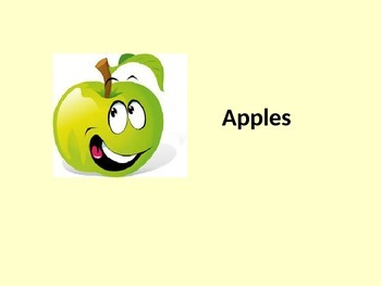 PPT teaching about apples