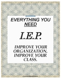 Special Education Binder- IEP charts, data sheets, and more! Editable!