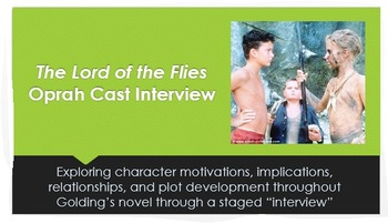 Golding's Lord of the Flies: Character/Cast Interview PPT