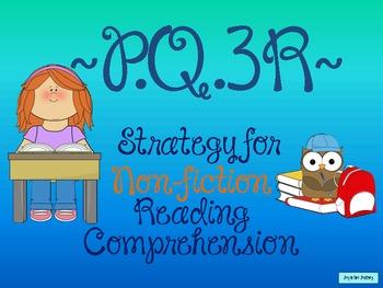 PQ3R Non-fiction Comprehension Strategy FREEBIE