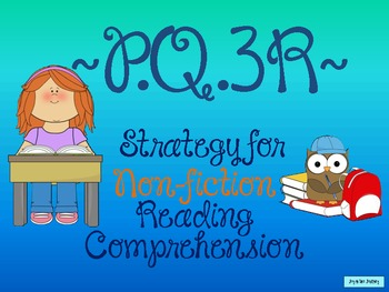 PQ3R Non-fiction Comprehension Strategy FREEBIE