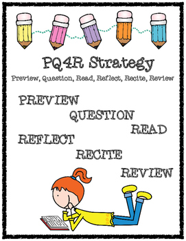 PQ4R Reading Strategy Handout and Organizer for Answering