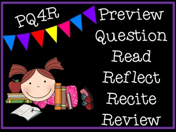 PQ4R Reading Strategy Presentation, Handout, and Graphic Organizer
