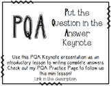 PQA: Put the Question in the Answer Introductory Presentation