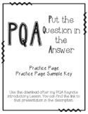 PQA: Put the Question in the Answer Practice Page