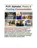 PQR: Alphabet, Poetry & Puzzling Oral Communication