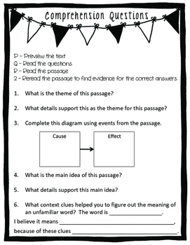 PQR2 Posters & Comprehension Questions