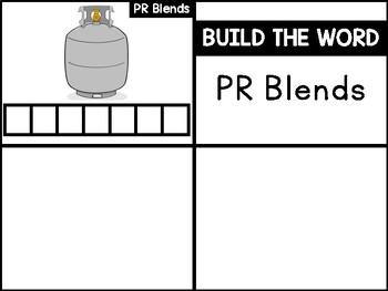 PR Blends Phonics Center:  Build the Word