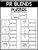 PR Blends Phonics Center:  Picture and Word Match Puzzles